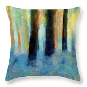 Bluebell Wood Throw Pillow by Valerie Anne Kelly