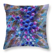 Blueberries Throw Pillow by Natalie Holland