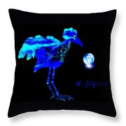 Bluebird Watching Throw Pillow by Hartmut Jager