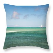 Blues. Mauritius Throw Pillow by Jenny Rainbow