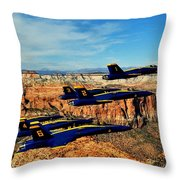 Blues Over Zion Throw Pillow by Benjamin Yeager