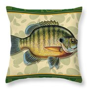 Blugill And Pads Throw Pillow by JQ Licensing