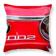Bmw 2002 Taillight Emblem Throw Pillow by Jill Reger