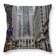Board of Trade Throw Pillow by Mike Burgquist
