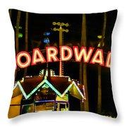 Boardwalk Throw Pillow by Digital Kulprits