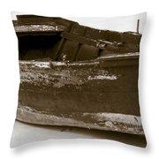 Boat Throw Pillow by Frank Tschakert