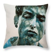 Bob Dylan Throw Pillow by Paul Lovering