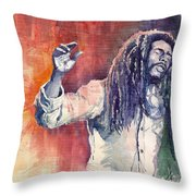 Bob Marley 01 Throw Pillow by Yuriy  Shevchuk
