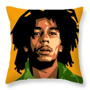 Bob Marley Throw Pillow by Douglas Simonson