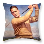 bobby Jones Throw Pillow by Tim Gilliland