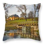 Bogstad Manor Throw Pillow by Erik Brede