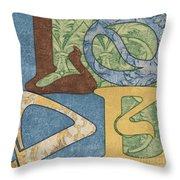 Bohemian Love Throw Pillow by Debbie DeWitt