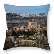 Boise Idaho Throw Pillow by Robert Bales