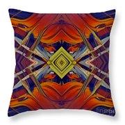 Boldness Of Color Throw Pillow by Deborah Benoit