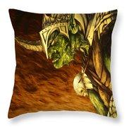 Bolg The Goblin King Throw Pillow by Curtiss Shaffer