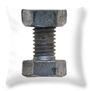 Bolt With Nut Throw Pillow by Michal Boubin