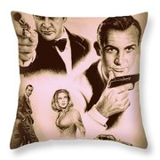 Bond The Golden Years Throw Pillow by Andrew Read