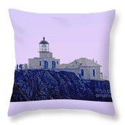 Bonita Lighthouse Throw Pillow by Kathleen Struckle