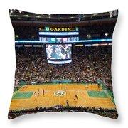 Boston Celtics Throw Pillow by Juergen Roth