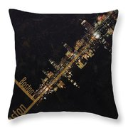 Boston City Skyline Throw Pillow by Corporate Art Task Force