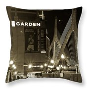 Boston Garder And Side Street Throw Pillow by John McGraw