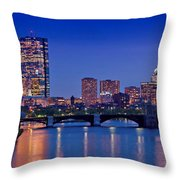 Boston Nights 2 Throw Pillow by Joann Vitali