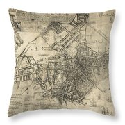 Boston Of British Dominion Map  1769 Throw Pillow by Daniel Hagerman