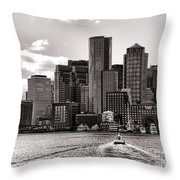 Boston Throw Pillow by Olivier Le Queinec