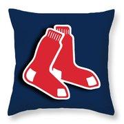 Boston Red Socks Throw Pillow by Tony Rubino