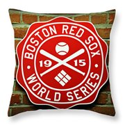 Boston Red Sox 1915 World Champions Throw Pillow by Stephen Stookey