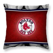Boston Red Sox Throw Pillow by Joe Hamilton