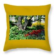 Botanical Landscape 2 Throw Pillow by Eunice Miller