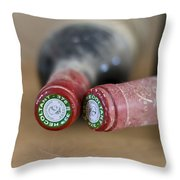 Bottle Necks Throw Pillow by Nomad Art And  Design