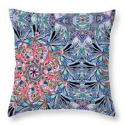 Bottom Of The Glass Throw Pillow by Jean Noren