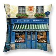 Boulangerie De Montmartre Throw Pillow by Marilyn Dunlap