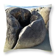 Boulders Throw Pillow by Joyce Woodhouse