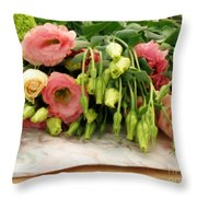 Bouquet In The Making Throw Pillow by Lainie Wrightson