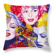 Bouquet Of Marilyn Throw Pillow by Rebecca Glaze