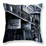 Bourbon Street New Orleans Throw Pillow by Christine Till