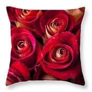 Boutique Roses Throw Pillow by Garry Gay