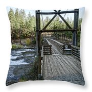 Bowl And Pitcher Bridge - Spokane Washington Throw Pillow by Daniel Hagerman