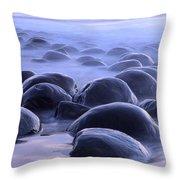 Bowling Ball Beach California Throw Pillow by Bob Christopher