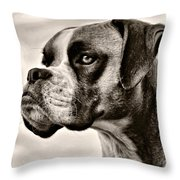Boxer Profile Throw Pillow by Lana Trussell