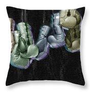 Boxing Gloves Throw Pillow by Tony Rubino
