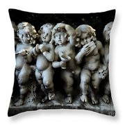 Boy Band Throw Pillow by Marcia Lee Jones