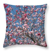 Branches And Blossoms Throw Pillow by Carol Groenen