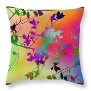 Branches In The Mist 22 Throw Pillow by Tim Allen