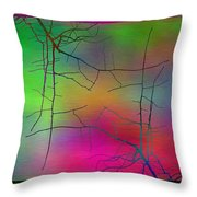 Branches In The Mist 23 Throw Pillow by Tim Allen