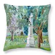 Brave And Noble Throw Pillow by Susan E Jones