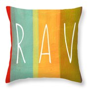 Brave Throw Pillow by Linda Woods